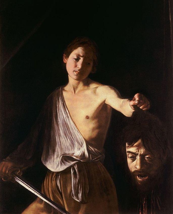 Quadro Davi com a cabeça de Golias.