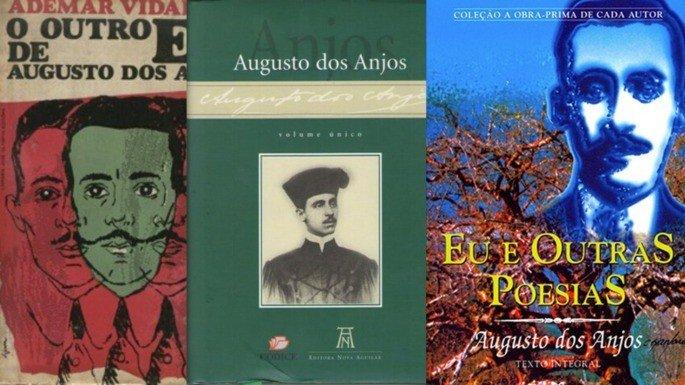 Várias edições da obra poética de Augusto dos Anjos.