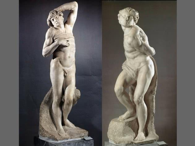 Escravo Morrendo e Escravo Rebelde - Louvre, Paris