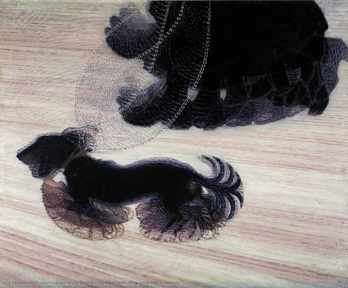 Dinamismo de Um Cão na Coleira (1912)