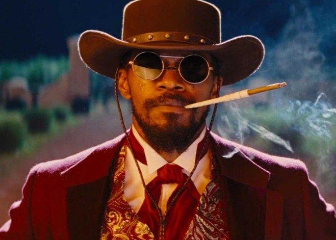 Frame do filme Django Livre.