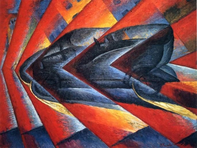 O Dinamismo de um Automóvel (1912).