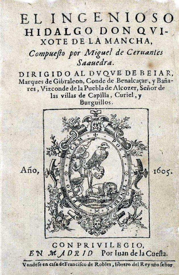 Capa da primeira edição de Dom Quixote