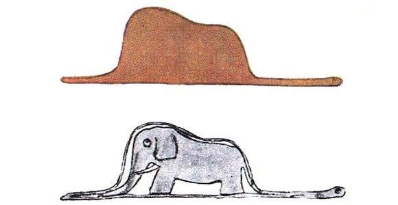 O elefante e a jiboia