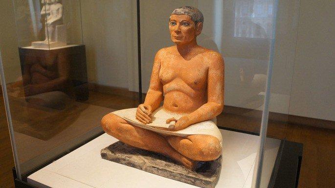 Estátua Escriba Sentado