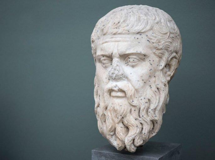 escultura Platão