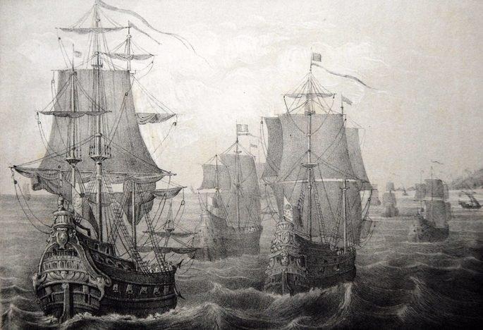 A esquadra de Pedro Álvares Cabral continha 13 navios e 1500 homens a bordo.