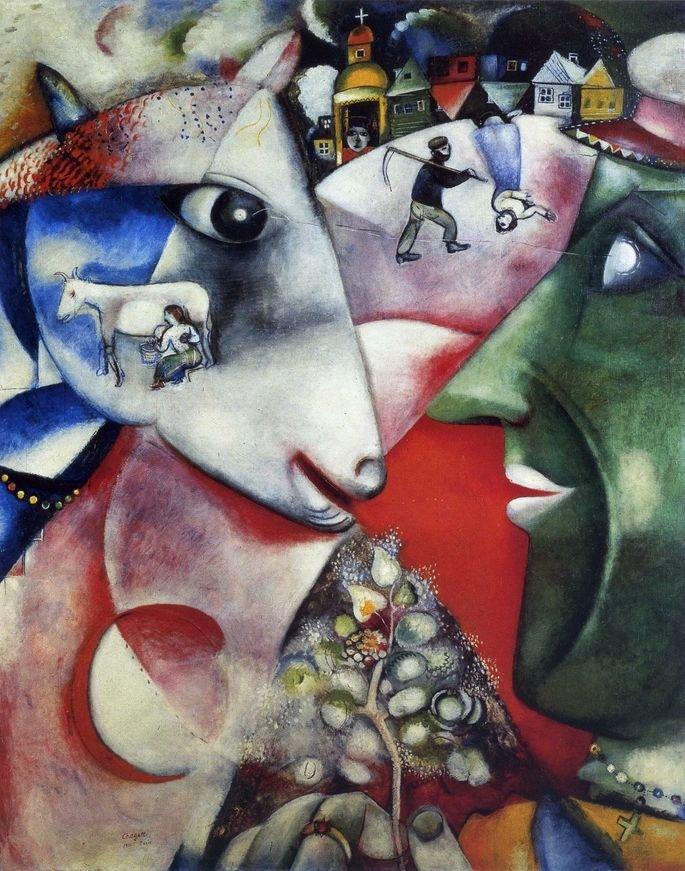 eu a aldeia marc chagall