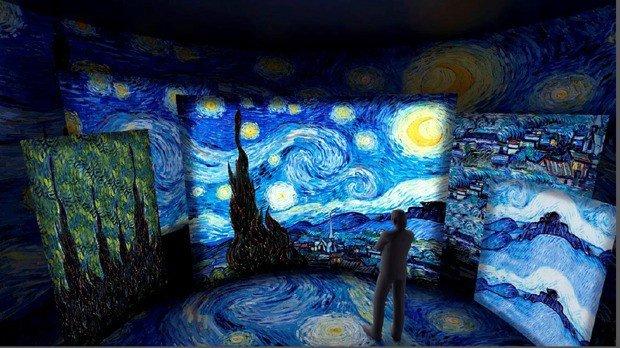 exposição de van Gogh, web art