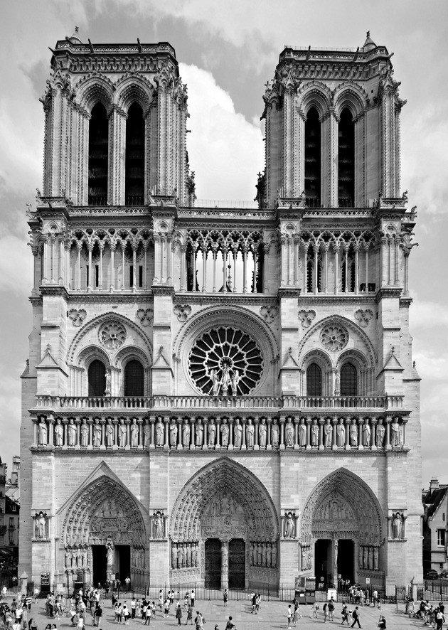 Fachada da Catedral de Notre Dame