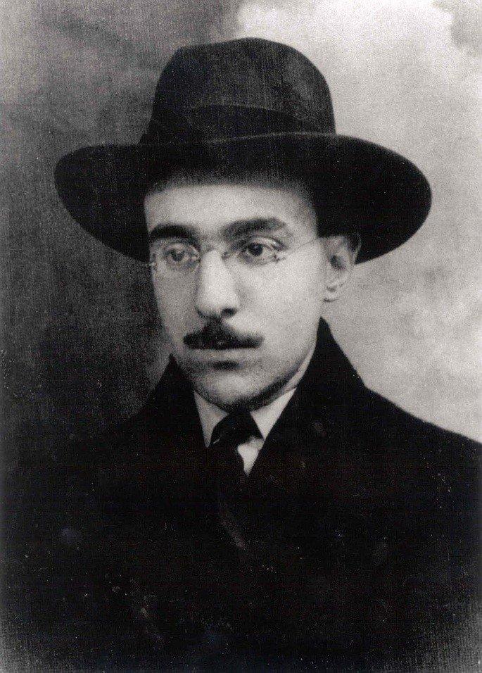Retrato de Fernando Pessoa.
