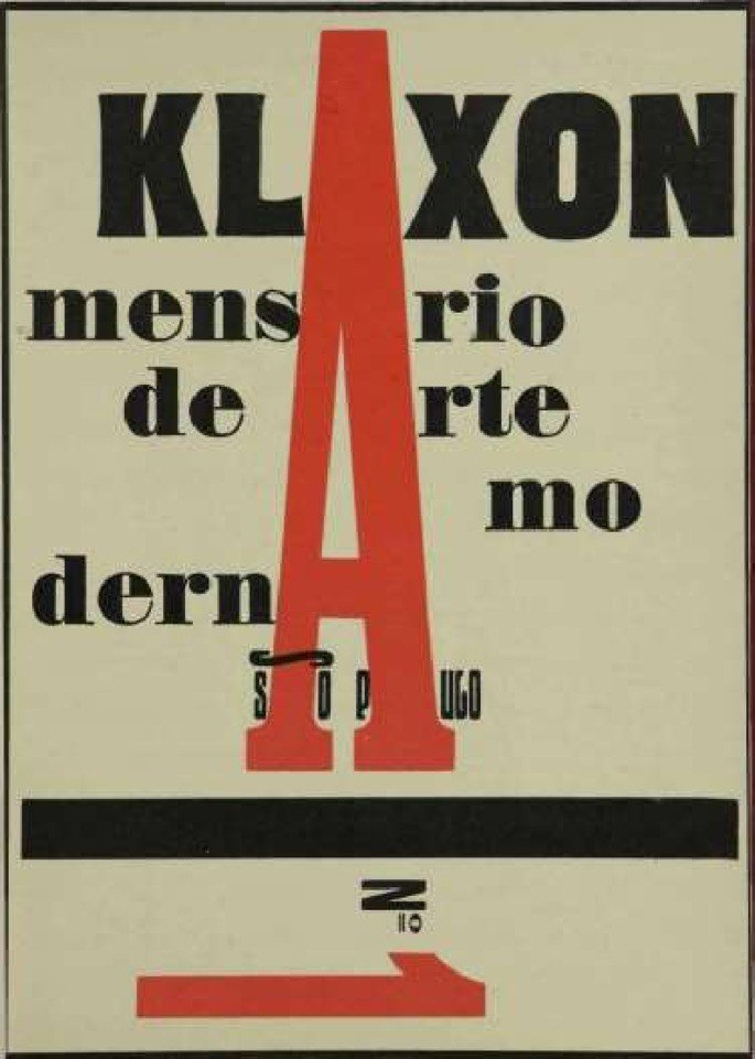 Capa da Revista Klaxon.