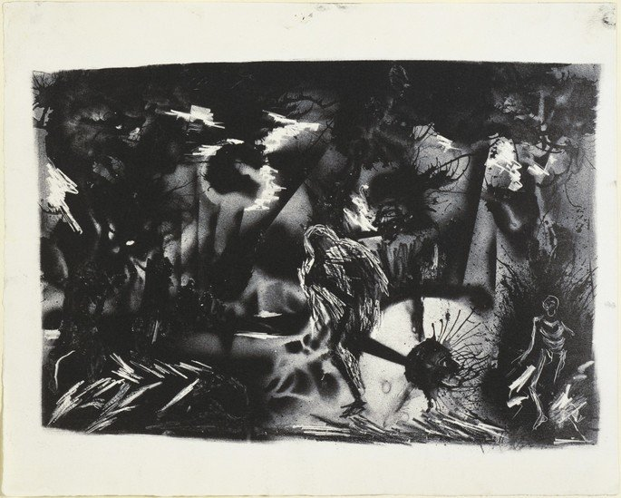 Figures in a Landscape de Jackson Pollock (1937)