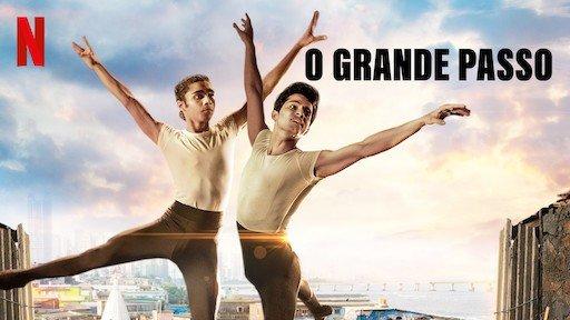 Cartaz do filme O grande passo exibe dois garotos dançando balé