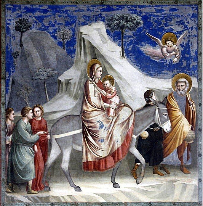 Quadro A fuga para o Egito, de Giotto