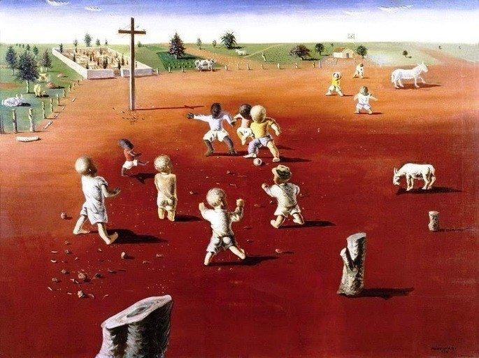 Futebol, quadro de Candido Portinari