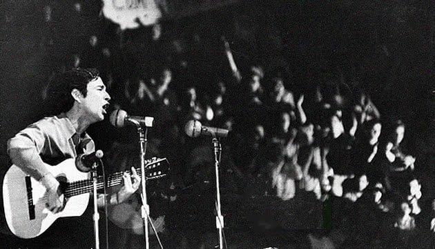 Geraldo Vacré no Festival da Canção de 1968.