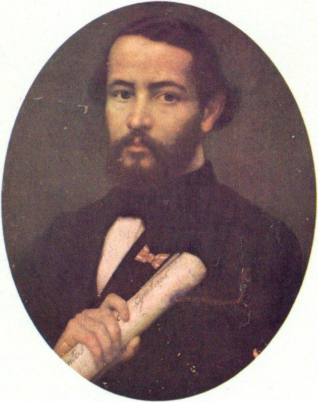 Retrato de Gonçalves Dias.