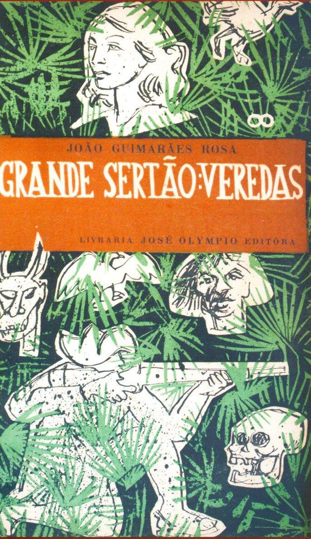 Capa do livro Grande Sertão: Veredas (1956), de Guimarães Rosa.
