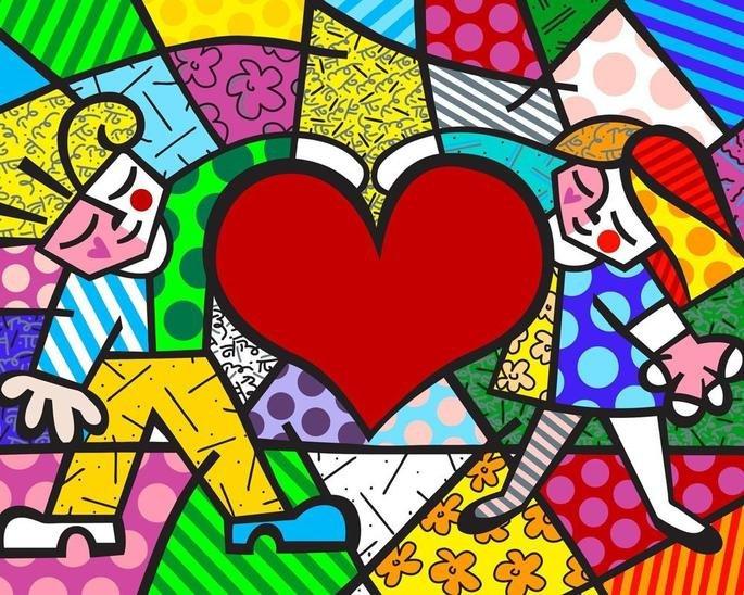 Heart kids Romero Britto