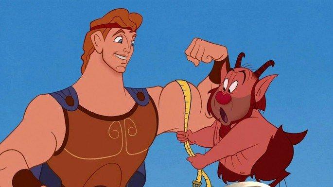 Hércules treinando com Phil.