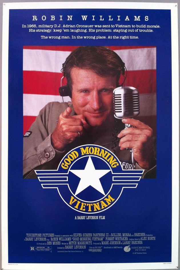 Cartaz do filme Good Morning Vietnam.