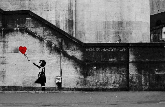 girl balloon-bansky