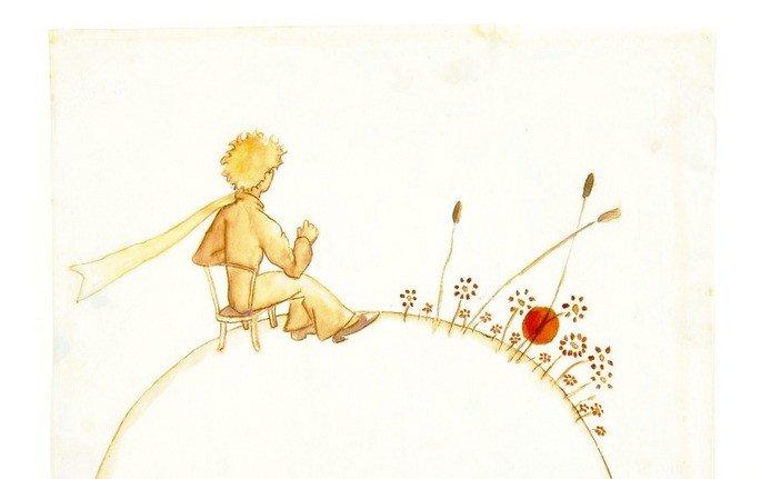 o pequeno príncipe sentado com sua rosa