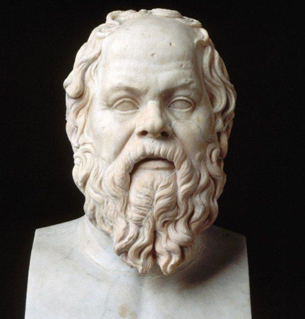 Busto de Sócrates.