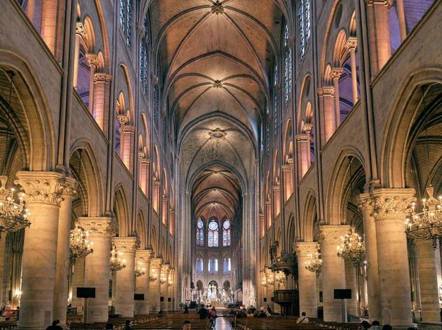 Interior da Catedral de Notre Dame.