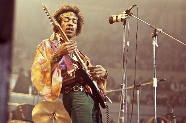 Retrato de Jimi Hendrix por David Redfern