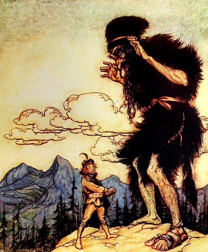 joão do pé de feijão com o gigante malvado