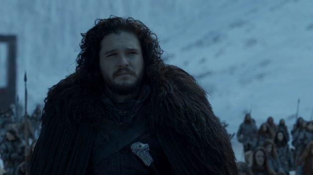 Jon Snow na Patrulha da Noite.