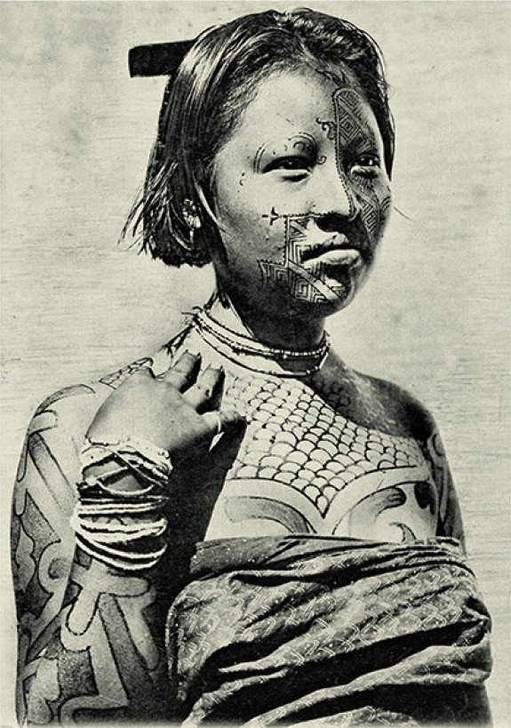 Uma nativa dos Kadiwéu em 1892.