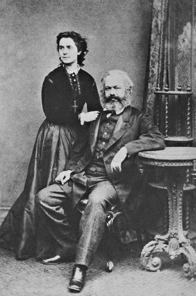 Retrato de Karl e Jenny Marx.