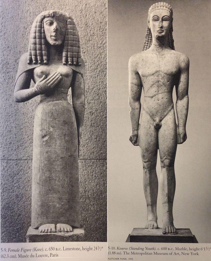 Estátuas kore e kouros