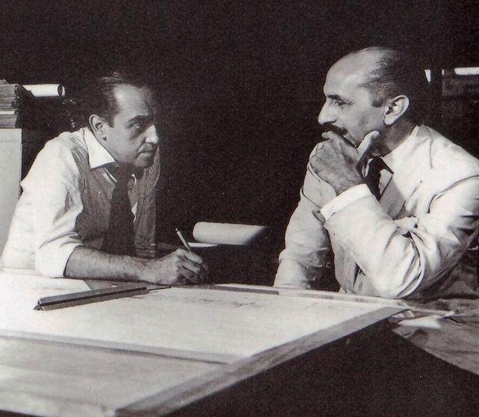Oscar Niemeyer e Lucio Costa