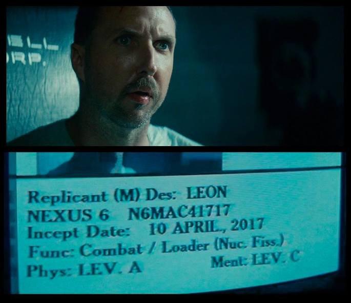 Leon realiza teste para detectar se ele é um replicante em Blade runner