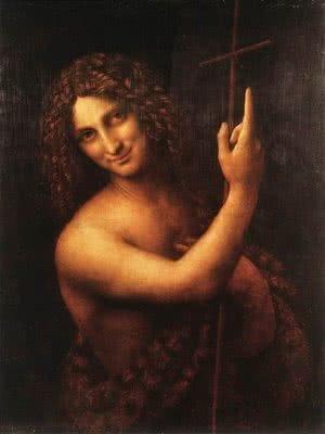 São João Batista (1513); óleo sobre madeira, 69 cm x 57 cm, Museu do Louvre