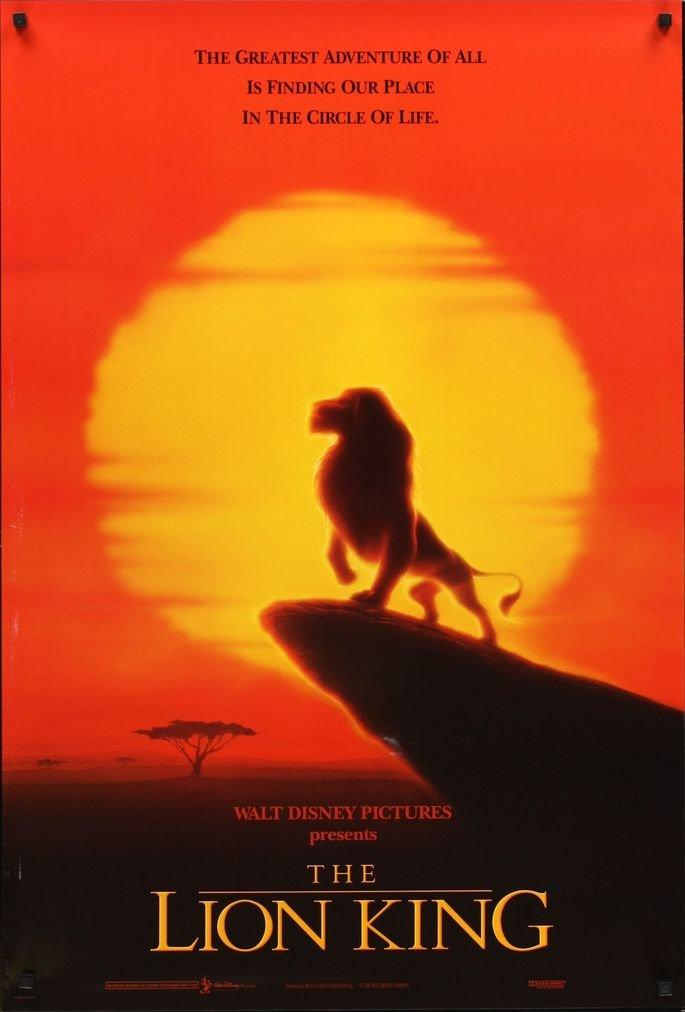 Poster do filme O Rei Leão, 1994.