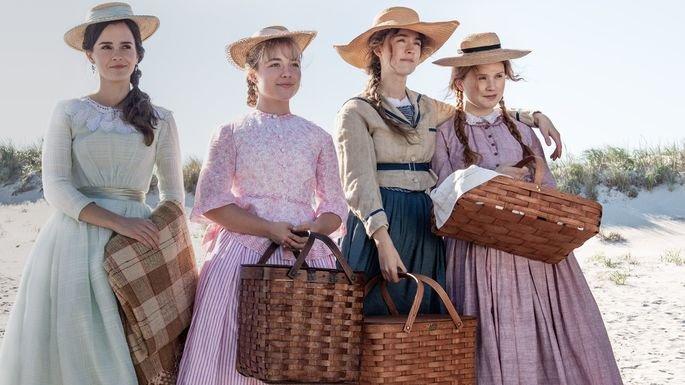 Frame do filme Adoráveis Mulheres