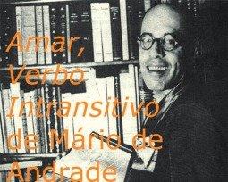 Livro Amar, Verbo Intransitivo de Mário de Andrade