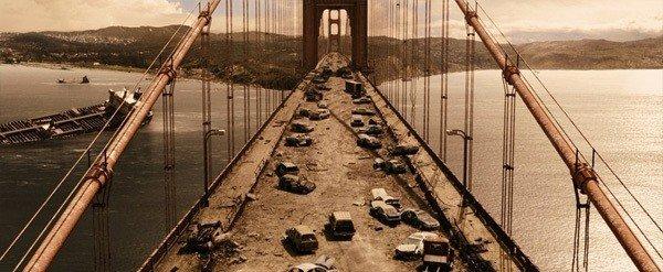 Ponte destruída