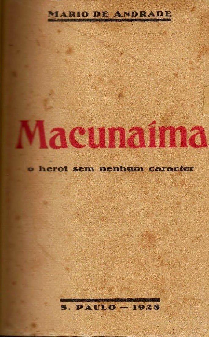 Capa do livro Macunaíma, de Mário de Andrade.