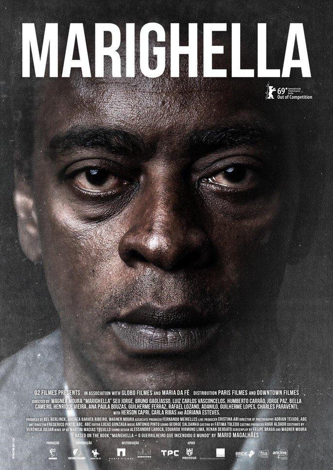 Poster fo filme Marighella (2019).