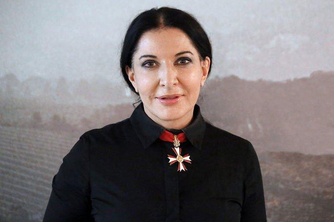 Retrato de Marina Abramović em 2010.