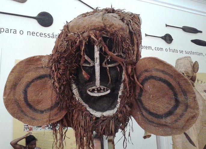 Máscara dosTicunas, ou tucunas, que habitam a região da Amazônia.