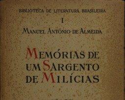 Livro Memórias de um Sargento de Milícias de Manuel de Antônio de Almeida