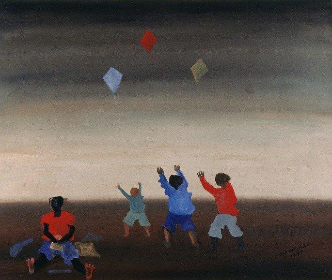 quadro Meninos soltando pipa de Candido Portinari