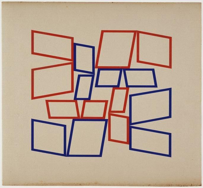 ObraMetaesquema, de Helio Oiticica. Pintura exibindo formas geométricas